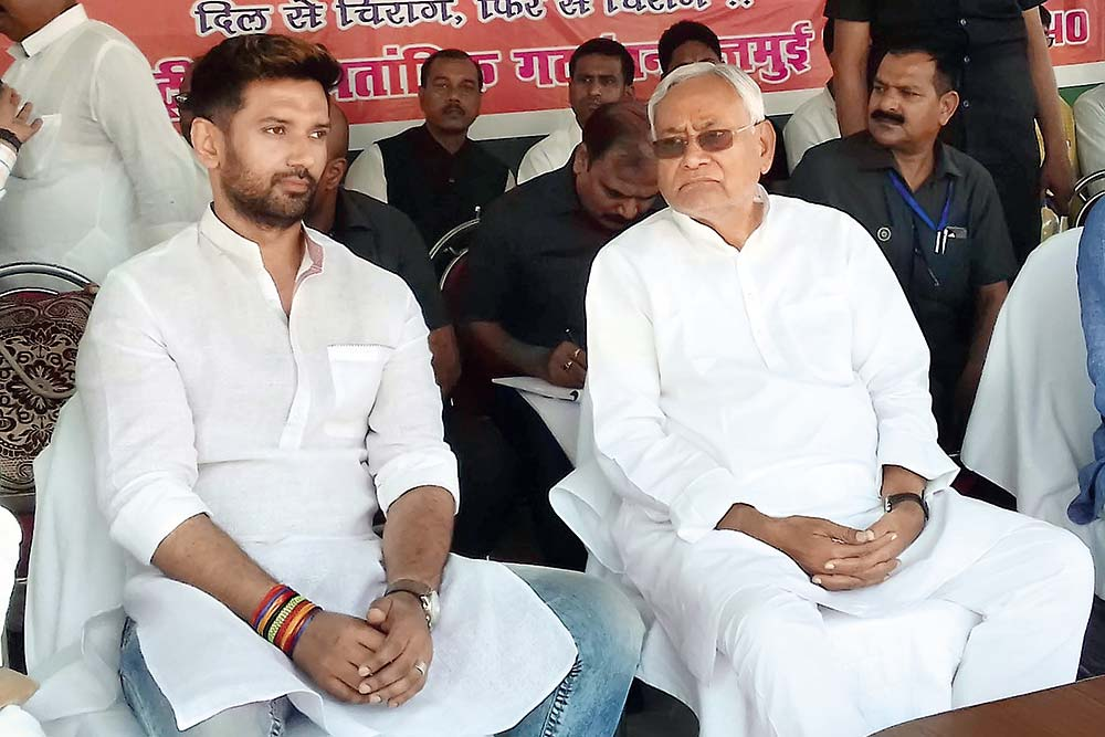 Nitish In Chirag's Glare