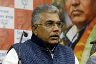 BJP Chief Dilip Ghosh's Convoy Attacked in Bengal District; TMC Office Vandalised
