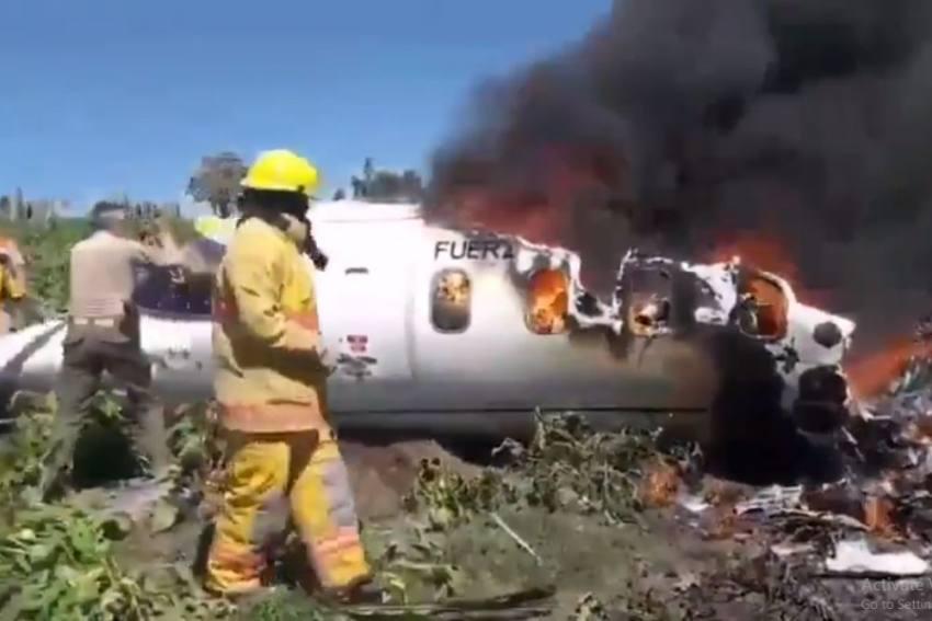Mexico: 6 Militants Killed In Air Force Plane Crash In Veracruz State