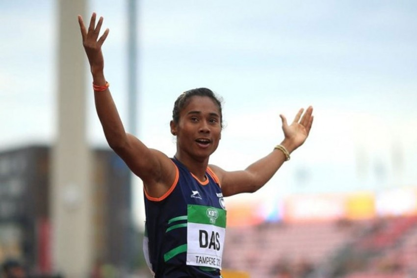 Hima Das Wins 200m Gold In Her First Race After More Than A Year