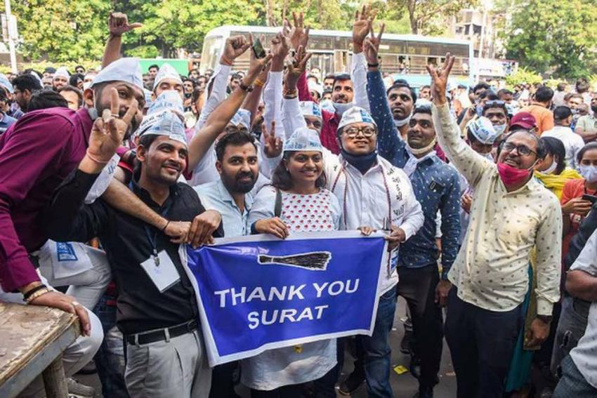Buoyed By Surat Civic Polls Results, AAP To Contest 2022 Assembly Elections In Gujarat