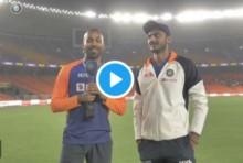 Ae Bapu Taari Bowling Kamaal Chhe! Watch Virat Kohli Interrupt Axar Patel's Interview