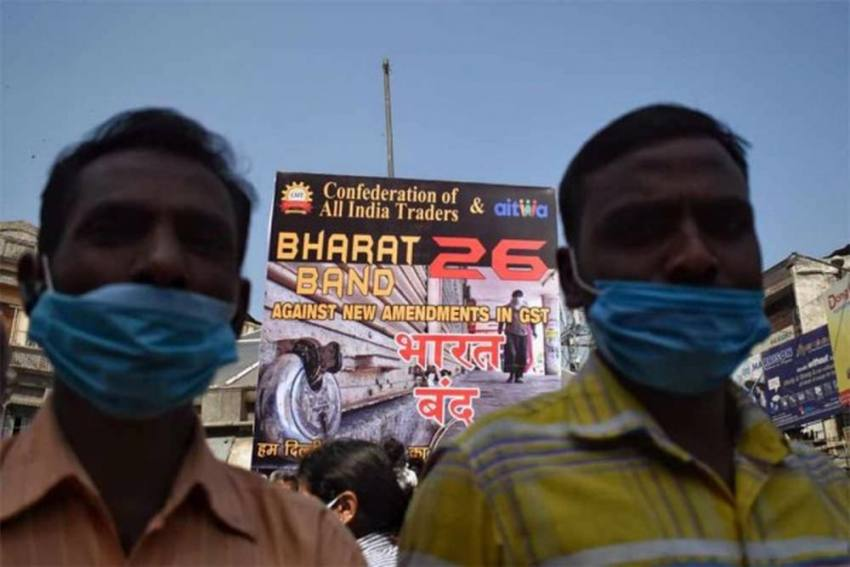 Delhi Shops Stay Open During Trade Bandh Fearing Losses