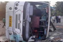 25 Passengers Injured As Bus Overturns In Amethi