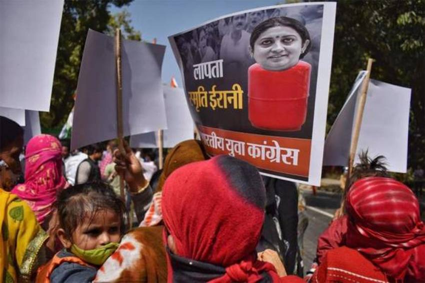 Fuel Price Hike: Youth Congress Protests Outside Residence Of Smriti Irani