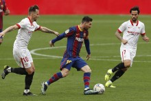 Sevilla 0-2 Barcelona: Ousmane Dembele, Lionel Messi Settle League Encounter Before Copa Del Rey Semi