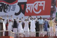 Left-Congress-ISF's 'Joint Front' Kicks Off 2021 Assembly Poll Campaign In Kolkata