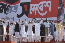 Left-Congress-ISF's 'Join Front' Kicks Off 2021 Assembly Poll Campaign In Kolkata