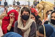 R-Day Violence: Congress Leader Priyanka Gandhi Meets Family Of Deceased Farmer In UP's Rampur