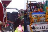 Newlywed Couple Ditch Car, Return Home From Wedding Venue On Tractor To Support Farmers