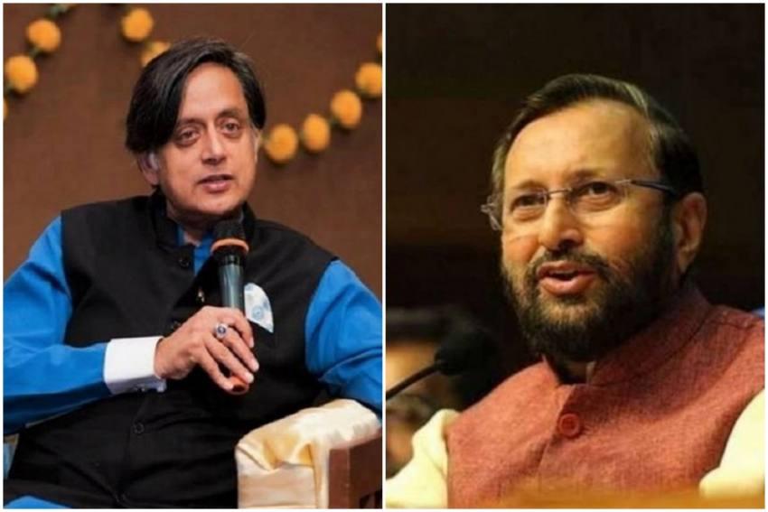'Stop Broadcasting Misinformation', Shashi Tharoor Tells Prakash Javadekar As They Spar On Twitter