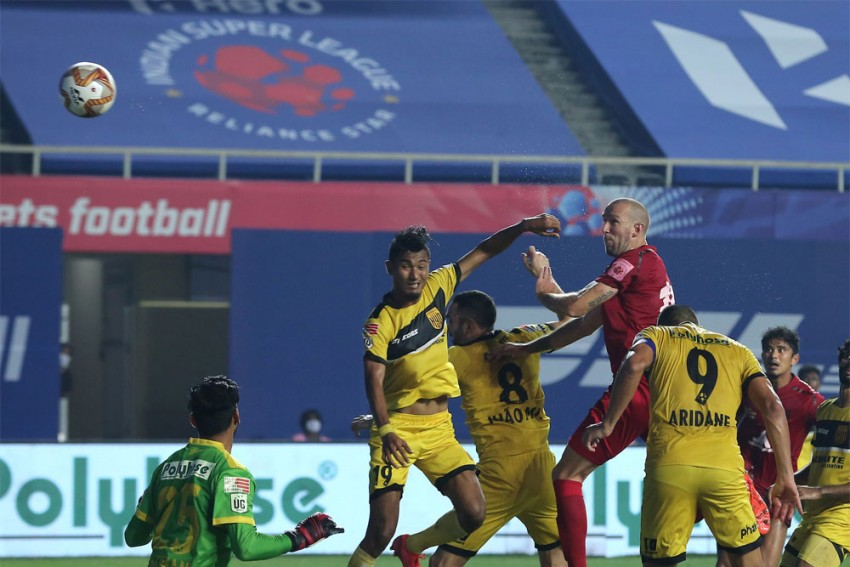 ISL 2020-21: Hyderabad FC, NorthEast United Share Spoils In Goalless Stalemate