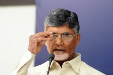 TDP Leader N Chandrababu Naidu Detained At Tirupati Airport, Stages Sit-In Protest