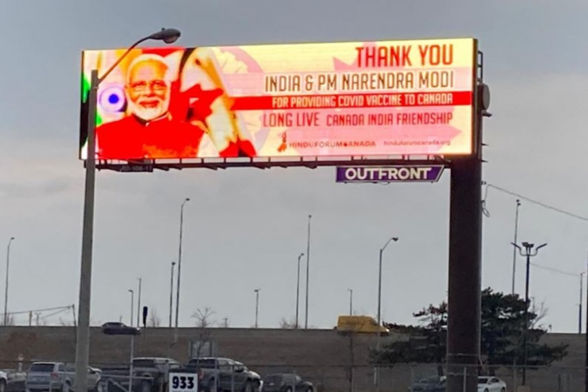 Canada Thanks PM Narendra Modi For Covid Vaccines By Putting Up His Billboards