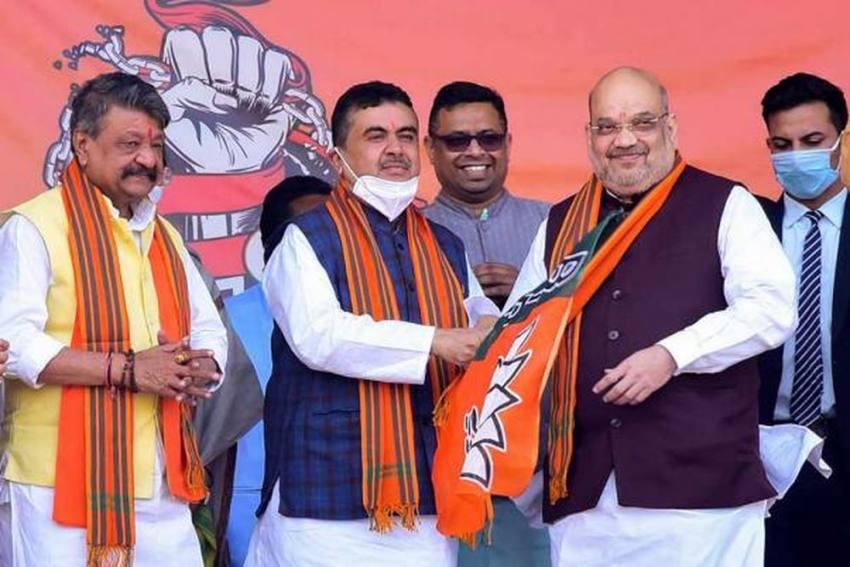 Bengal Polls: Suvendu Files Nomination From Nandigram Against CM Mamata Banerjee