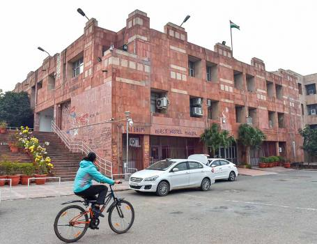 Ground Floor Reading Room Of JNU's Central Library Reopens For Students