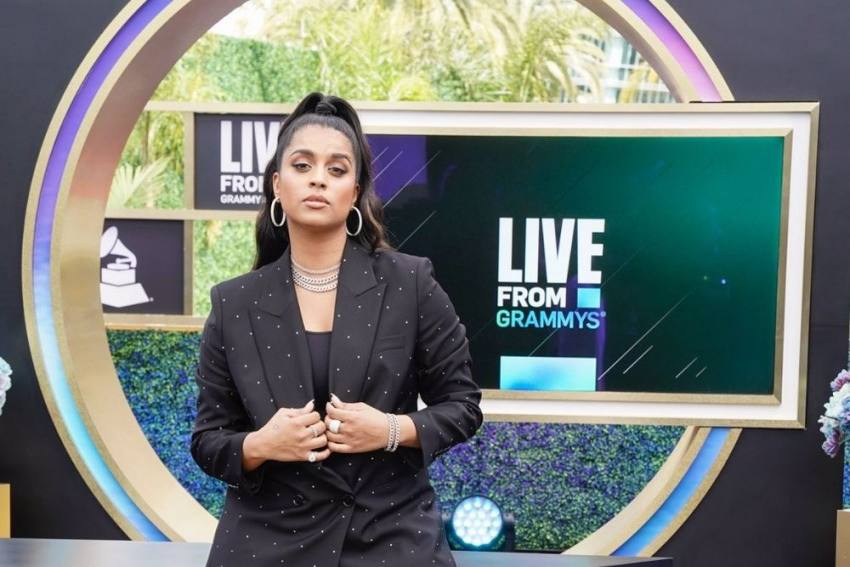 Indo-Canadian YouTube Star Lilly Singh Sports 'I Stand With Farmers' Mask At Grammys Red Carpet