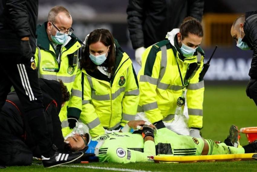 Premier League: Wolves Goalkeeper Rui Patricio Is Fully Conscious And 'Okay' After Blow To The Head.