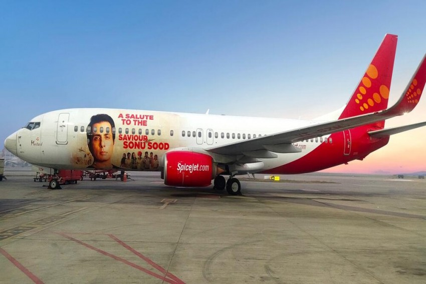 Spicejet Honours Sonu Sood, Features His Pictures On Its Aircraft