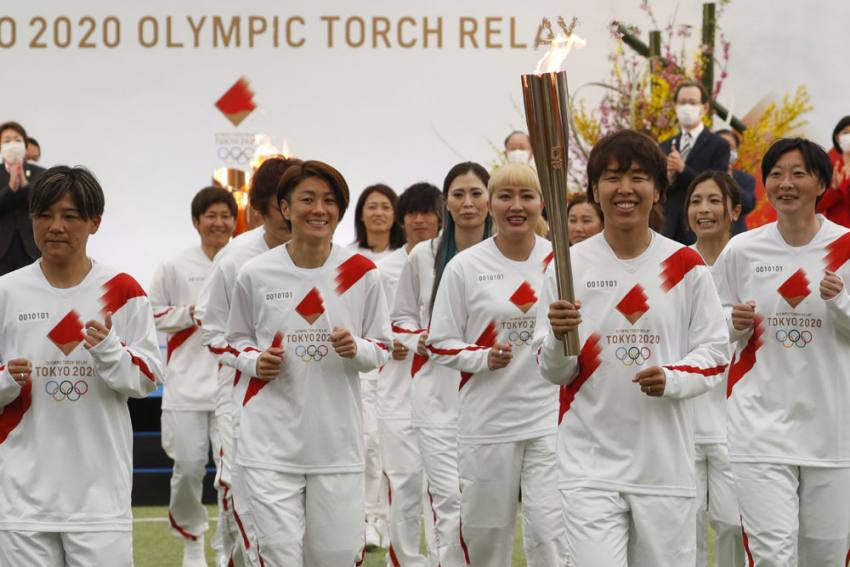 Tokyo Olympics: Torch Relay Kicks Off Its 121-day Journey - WATCH
