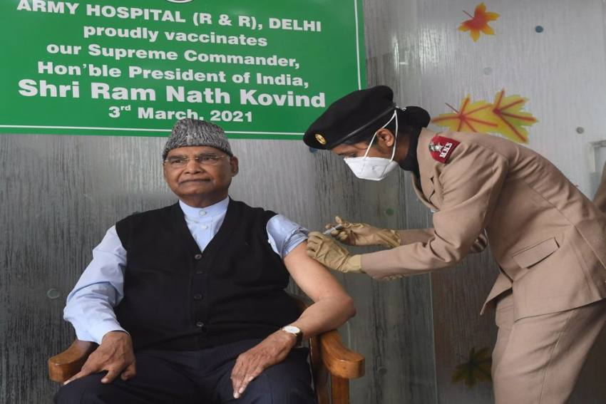 Prez Kovind Receives His First Dose Of Covid-19 Vaccine