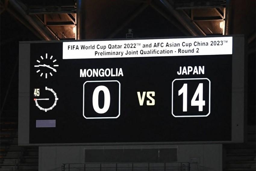 Takumi Minamino Among Scorers As Japan Thump Mongolia 14-0 In World Cup Qualifier