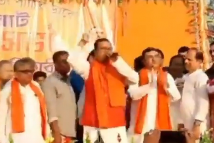 Former TMC leader Squats On Stage After Joining BJP To 'Atone Past Sins'