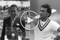 Sunil Gavaskar Gets Special India Cap As Former Captain Completes 50 Years In Cricket - WATCH