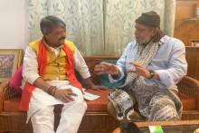 Kolkata: Actor Mithun Chakraborty Meets BJP Leader Kailash Vijayvargiya Ahead Of PM Modi's Rally