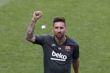 Lionel Messi And Barcelona Team-mates Vote In Presidential Election