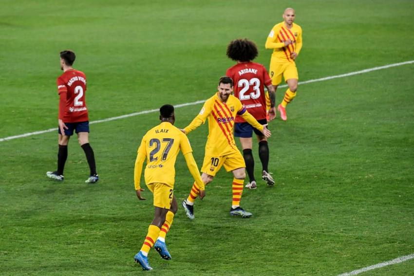Osasuna 0-2 Barcelona: Lionel Messi Sets Up Both Goals As Blaugrana Close The Gap In La Liga