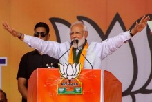 Kolkata Paints Itself Saffron For Modi's Rally With Loud 'Jai Shree Ram' Chants