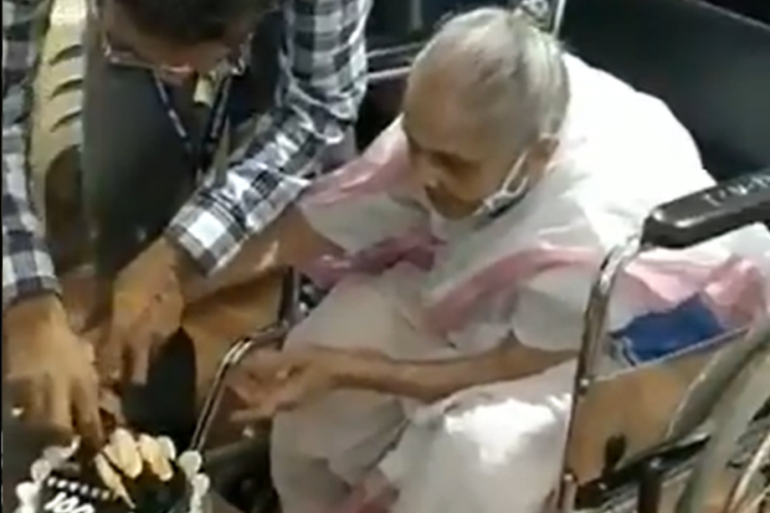 Watch: Woman Cuts Cake As She Receives Covid-19 Vaccine Jab On Her 100th Birthday