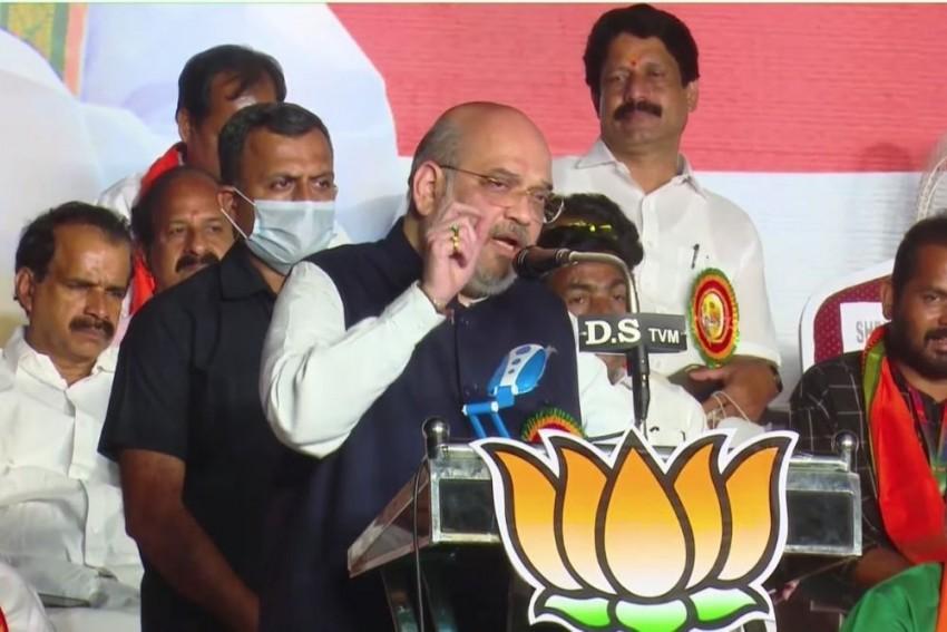 Amit Shah Takes A Dig At Kerala CM Pinarayi Vijayan On Gold Scam
