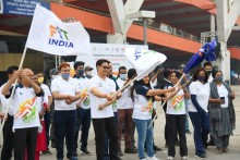 Sports Minister Kiren Rijiju Flags Off Fit India Walkathon On International Women's Day