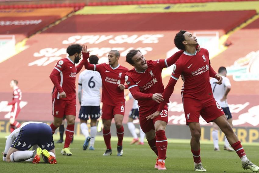 Liverpool 2-1 Aston Villa: Mohamed Salah, Trent Alexander-Arnold Score As Reds Finally Win At Anfield Again