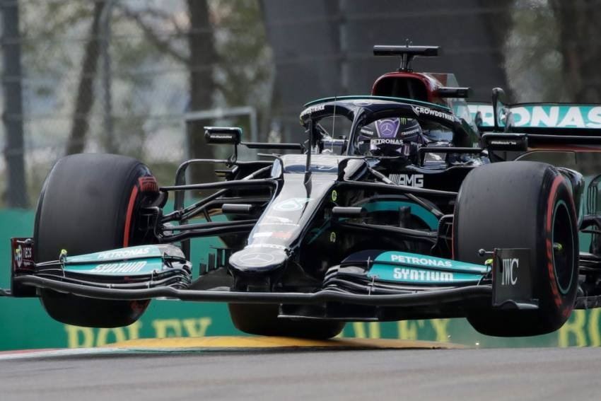 F1 2021: Lewis Hamilton Shocked To End Red Bull Pole Run At Imola As Perez Rues Mistake At Last Corner
