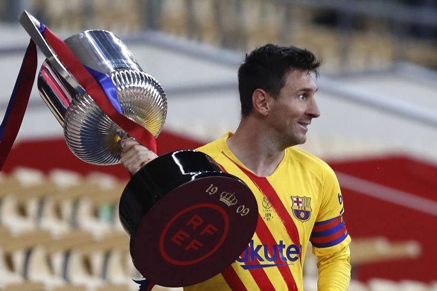 Athletic Bilbao 0-4 Barcelona: Lionel Messi Double Inspires Barca To Copa Del Rey Glory