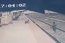 Watch: Pointsman Saves Boy Who Fell On Railway Track Seconds Before Train Approaches Spot