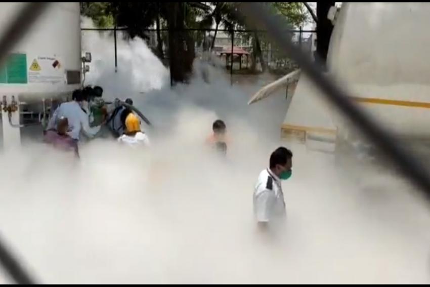 Watch: Oxygen Tank Leaks In Nashik Govt Hospital; 24 Covid-19 Patients Dead