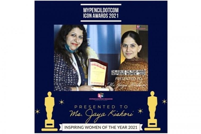 Mypencildotcom Recognises Jaya Kishori With ICON Of The Year 2021 Award
