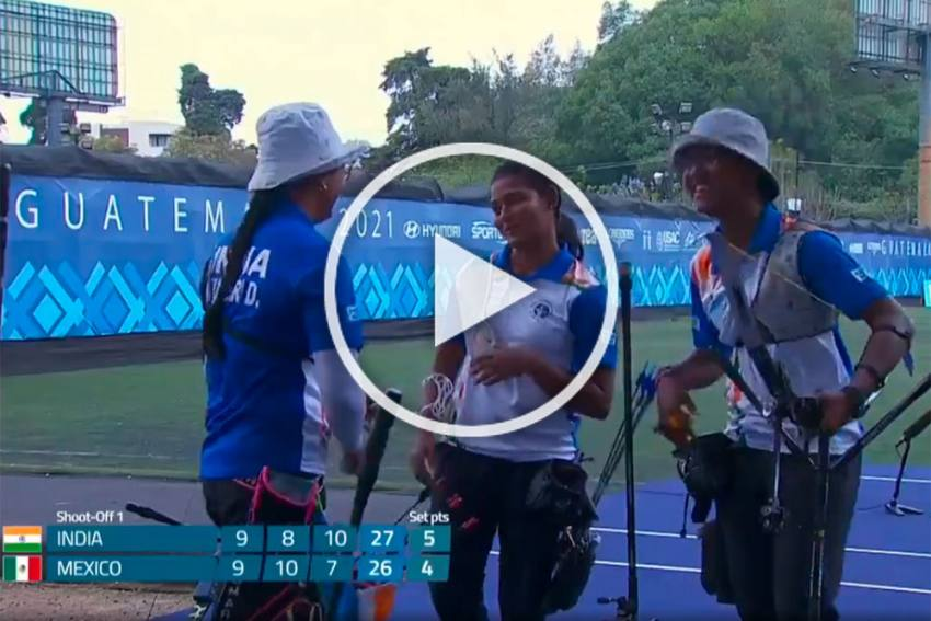 World Cup Archery: India Women's Recurve Team Beats Mexico To Win Gold - WATCH