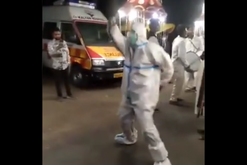 Watch: Ambulance Driver Takes A Break From Covid Duty And Joins Wedding Procession For A Dance