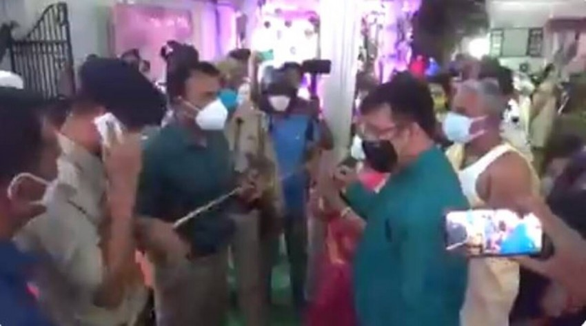Watch: Tripura DM Forcefully Stops Wedding, Thrashes Guests, Beats Up Purohit