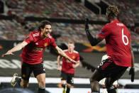 Manchester United 6-2 Roma: Edinson Cavani, Bruno Fernandes Put Red Devils On Course For Europa League Final
