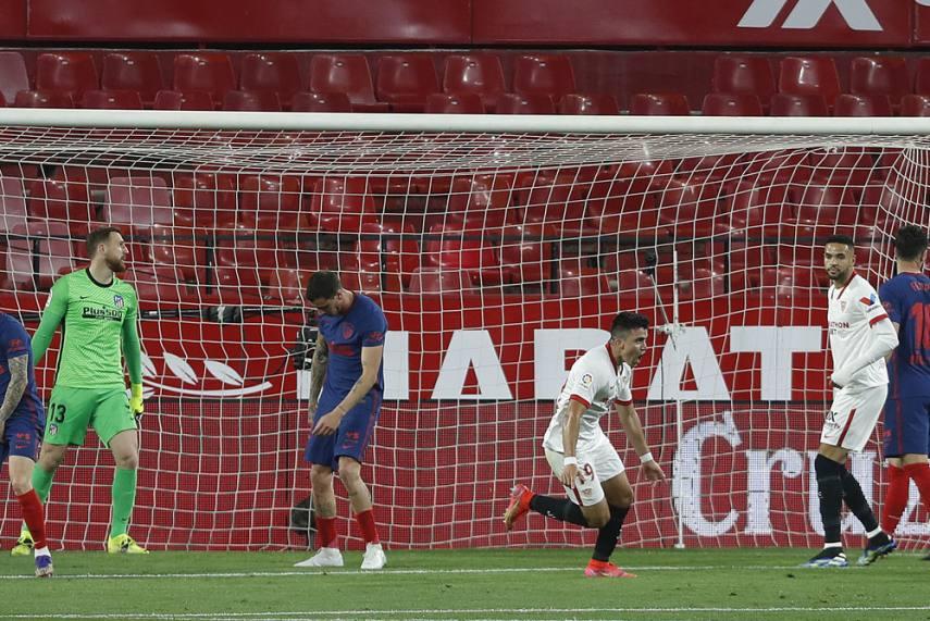 Sevilla 1-0 Atletico Madrid: La Liga Leaders Slip Up Despite Jan Oblak's  Penalty Heroics