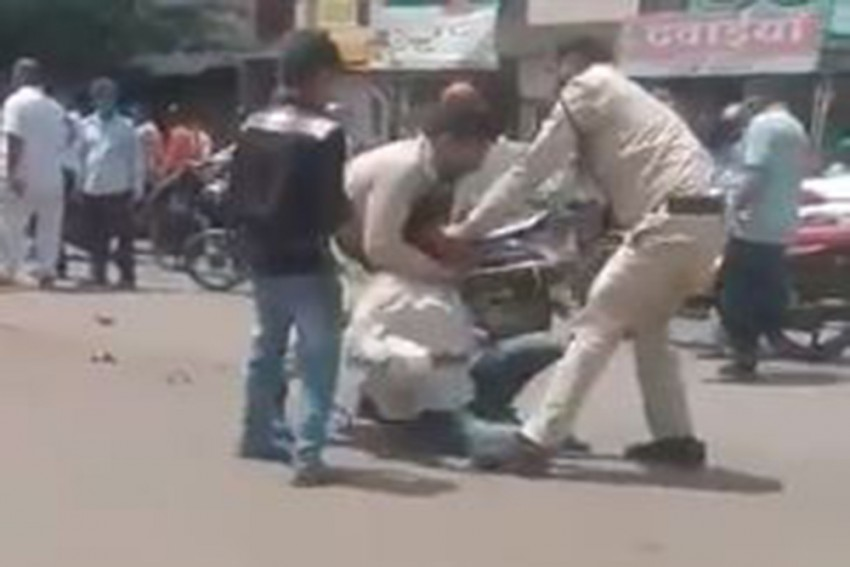 Watch: Cops In Indore Thrash Man For Not Wearing A Mask