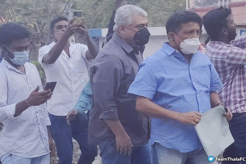 Watch: Tamil Superstar Ajith Snatches Phone Of Unmasked Fan Taking Selfie At Polling Station