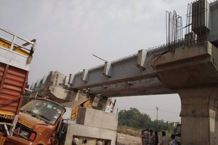 50-Year-Old Dies As Under-Construction Bridge Collapses In Delhi's Punjabi Bagh Area