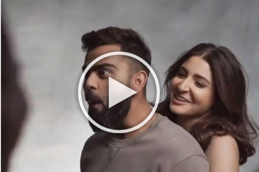 Video Of Anushka Sharma Lifting Virat Kohli Goes Viral - WATCH